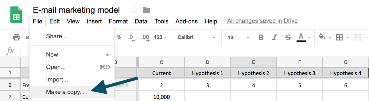 Google sheet make a copy