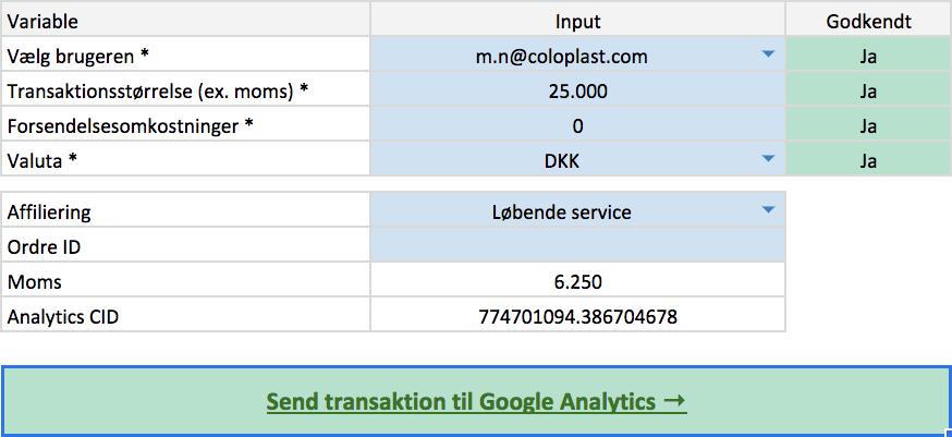 Automatisk generering af link